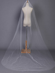 cheap -One-tier Pencil Edge Wedding Veil Chapel Veils With 118.11 in (300cm) Tulle