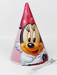 Недорогие -Минни Маус бумаги шляпу 12шт