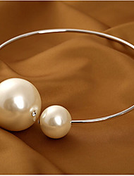 cheap -Women's Circle Basic Fashion Bridal Oversized Choker Necklace Pearl Necklace Statement Necklace Pearl Alloy Choker Necklace Pearl