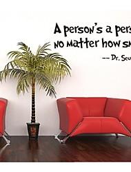 economico -una persona è una persona, non importa decorativo adesivo da parete in vinile smontabile quanto piccola citazione della parete della