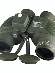Boshile 10X50 Binoculars Waterproof Roof Prism Night Vision in Low Light BAK4 Telescope with Rangefinder Compass Army Green Fully Multi-coated