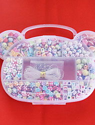 Beadia Acrylic DIY Beads Assorted Color and Shape in Plastic Box Kids Toy Gift Fit Necklace Bracelet Jewelry