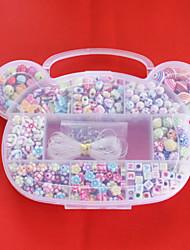 beadia perline diy colori assortiti acrilico e forma nella scatola dei capretti di plastica giocattolo regalo gioielli collana