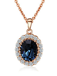 cheap -Cute Drop Crystal Pendant Necklace  -  Vintage Party Work Red Green Blue Necklace For