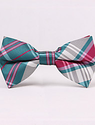 cheap -Men's Party/Evening Wedding Self Tie Plaid Bow Tie In Greens And Pinks