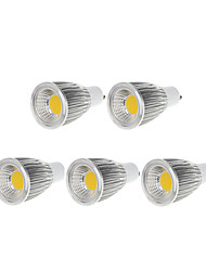 cheap -GU10 LED Spotlight MR16 1 COB 750-800lm Warm White Cold White 3000-3500K Dimmable AC 220-240 AC 110-130V 5pcs