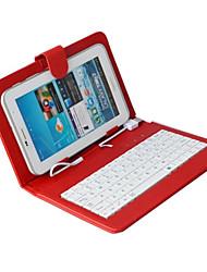 Недорогие -Кейс для Назначение универсальный Kindle Чехлы с клавиатурой Чехол Сплошной цвет Твердый Кожа PU для