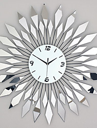 cheap -Modern Style Luxury Mirror with Iron Mute Wall Clock