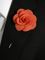 Недорогие -мужской случайный оранжевый шелковый товар брошь классический женский стиль
