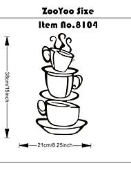 tomar uma xícara de café decalques de parede decorações home zooyoo8104 cozinha parede vinil removível arte diy