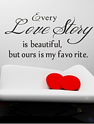 cheap -Every Love Story Is Beautiful Wall Decals Zooyoo8145 Living Room Removable Vinyl Wall Stickers Home Decoration