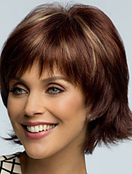 cheap -Europe And The United States  Sell Like Hot  Cakes  Style Highlights The Become Warped Short Brown Wig