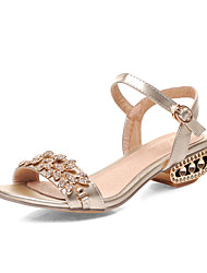 Women's Shoes Low Heel Peep Toe Sandals Office & Career/Dress/Casual Silver/Rose Gold