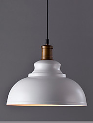 abordables -Lampe suspendue Lumière d'ambiance Finitions Peintes Métal 110-120V / 220-240V Ampoule non incluse / E26 / E27