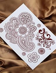 abordables -4pcs 2016 mendhi tatuaje de henna pintura tatuaje falso tatto etiqueta engomada del tatuaje temporal indio de la mujer