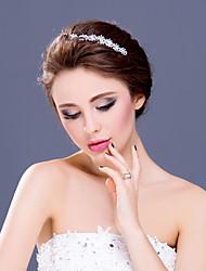 Women's Flower Girl's Rhinestone Alloy Headpiece-Wedding Special Occasion Casual Tiaras Headbands 1 Piece