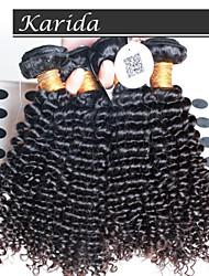 abordables -4 PC / porción brasileña profunda del pelo ondulado y rizado, reina virgen cabello humano brasileño sin procesar