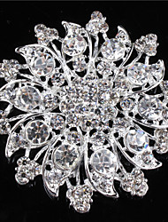 cheap -Women's Alloy Brooches & Pins With Rhinestones/Crystal/ Diamond For Bridal Flower