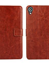 povoljno -Θήκη Za HTC Maska za HTC Novčanik / Utor za kartice / sa stalkom Korice Jednobojni Tvrdo PU koža za