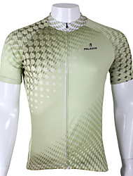 cheap -ILPALADINO Men's Short Sleeve Cycling Jersey - Green Bike Jersey, Quick Dry, Ultraviolet Resistant, Breathable Polyester