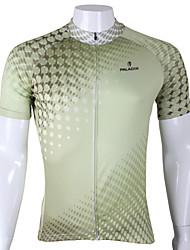 Недорогие -ILPALADINO Муж. С короткими рукавами Велокофты - Зеленый Велоспорт Джерси, Быстровысыхающий, Ультрафиолетовая устойчивость, Дышащий