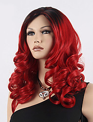 Popular Color Red Hair Wig Hair Wave Synthetic Hair Wig