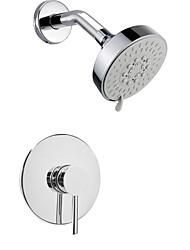 cheap -Contemporary Wall Mounted Rain Shower Widespread Brass Valve Two Holes Single Handle Two Holes Chrome, Shower Faucet