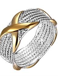 Недорогие -Жен. Универсальные Кольцо Массивные кольца Классические кольца европейский Стерлинговое серебро Круглый Геометрической формы Бижутерия