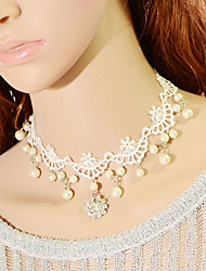 Недорогие -изысканный декор алмаз цветок ожерелье