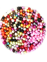 cheap -DIY Jewelry 2000 pcs Beads Plastic Round Round Shape Bead 0.4 cm DIY Necklace Bracelet