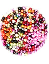 Недорогие -Ювелирные изделия DIY 2000 штук Бусины пластик Круглый Round Shape Шарик 0.4 cm DIY Ожерелье Браслеты