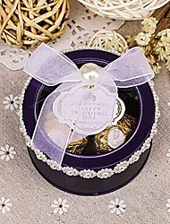 cheap -Cylinder Card Paper Favor Holder with Bowknot Favor Boxes Gift Boxes - 10