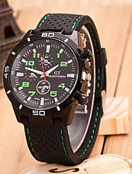 cheap -Men's Wrist Watch Casual Watch / Cool Rubber Band Casual / Word Watch Black