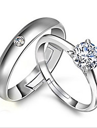 Statement Rings Sterling Silver Adjustable Silver Jewelry Wedding Party Engagement 1pc