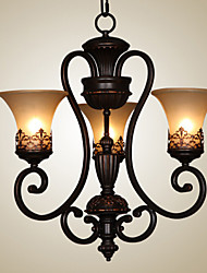 cheap -Ecolight™ Chandelier Ambient Light - Candle Style, Vintage Island Country, 110-120V 220-240V Bulb Not Included