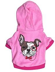 preiswerte -Katze Hund Kapuzenshirts Hundekleidung Lässig/Alltäglich Karton Blau Rosa Kostüm Für Haustiere
