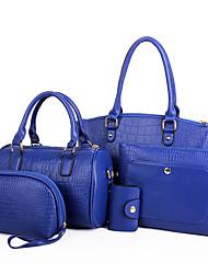 Donna Sacchetti Per tutte le stagioni PU (Poliuretano) Borsa a tracolla Tote Pochette Portamonete sacchetto regola per Shopping Casual
