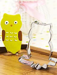 coruja dos desenhos animados em corte filial forma cortadores de biscoito fruta moldes de aço inoxidável