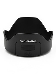 mengs® ph-rba 52 milímetros pétala capa de lente baioneta com uma janela de filtro para pentax da 18-55mm / 18-55mm