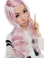 cheap -Lolita Sex Products Pink Wigs Rainbow Synthetic Bangs Curly Hair Wigs Ombre Wig Cheap Anime Cosplay Wigs