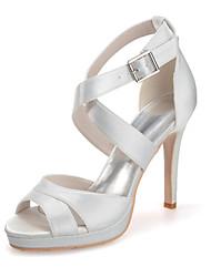 abordables -Femme Chaussures Satin Printemps / Eté Talon Aiguille Rouge / Bleu / Rose / Mariage / Soirée & Evénement