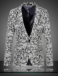 Men's Daily Party Vintage Chinoiserie Spring Fall Blazer