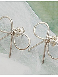 cheap -Two Bow Earrings Earrings Korean Star Models Classical Feminine Style