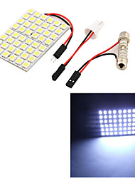 cheap -T10 Festoon 8W 500lm 48 x SMD 5050 LED White Light Car Reading Light / Panel Light - (12V)