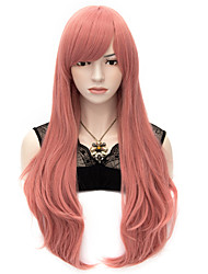 cheap -70cm Style Natural Straight Fashion Women Party Wig Heat Resist Synhtetic Cosplay costume Wig Pink