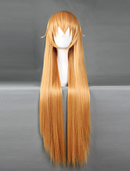 economico -Parrucche Cosplay Shokugeki no Soma Cosplay Arancione Medio Anime Parrucche Cosplay 70 CM Tessuno resistente a calore Uomo / Donna