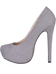 baratos -Mulheres Sapatos Veludo Primavera / Outono Conforto Saltos Salto Agulha Ponta Redonda Azul / Rosa claro / Roxo Escuro / Festas & Noite