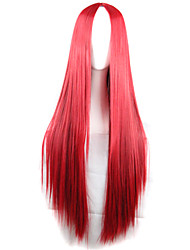 Long Straight Red Hair Color Red Long Hair Wig Synthetic Wave Hair Wig Fashion Style