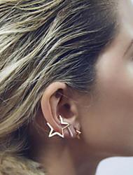 baratos -Mulheres Estrela Brincos Curtos Punhos da orelha - Fashion Estilo simples Estrela Para Casamento Festa Diário Casual