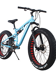 cheap -Snow Bike Cycling 24 Speed 26 Inch/700CC SHIMANO 65-8 Double Disc Brake Springer Fork Rear Suspension Hard-tail Frame Ordinary/Standard